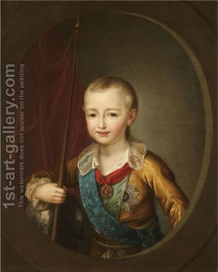 Portrait Of Grand Duke Alexander Pavlovich, The Future Alexander I by (after) Dmitry Levitsky - Reproduction Oil Painting