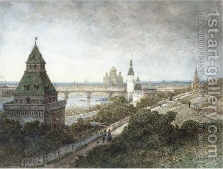 View Of Moscow by Aleksei Petrovich Bogoliubov - Reproduction Oil Painting