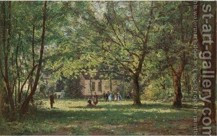 View Of Franzensbad by Aleksei Petrovich Bogoliubov - Reproduction Oil Painting