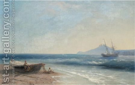 Marine Scene by (after) Ivan Konstantinovich Aivazovsky - Reproduction Oil Painting