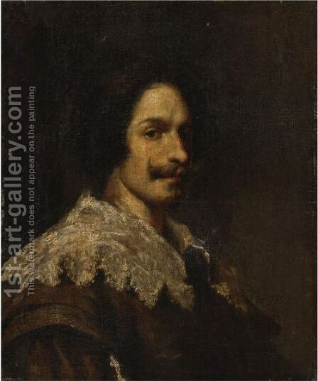 Portrait Of A Gentleman by (after) Diego Rodriguez De Silva Y Velazquez - Reproduction Oil Painting