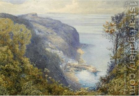 Clovelly, North Devon by Charles Robertson - Reproduction Oil Painting