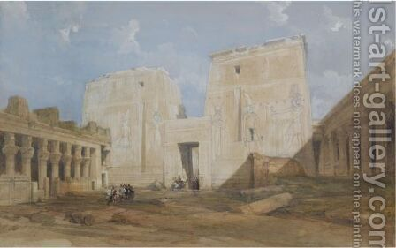 The Temple Of Philae, Egypt by David Roberts - Reproduction Oil Painting