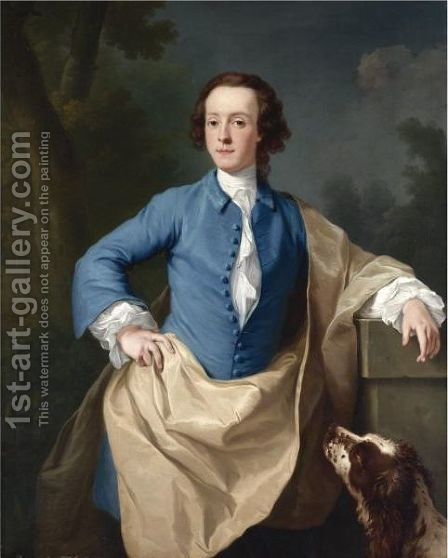 Portrait Of Thomas Barrett-Lennard, 17th Baron Dacre by Isaac Whood - Reproduction Oil Painting
