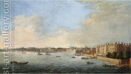 View Of Westminster And The Thames by Cornelis Bol - Reproduction Oil Painting