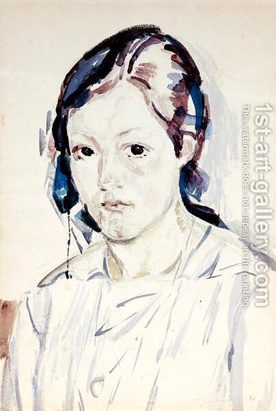 Potrait Of A Girl, 1920 by Giovanni Giacometti - Reproduction Oil Painting