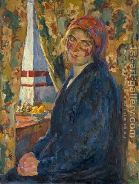 Annita, 1924 by Giovanni Giacometti - Reproduction Oil Painting