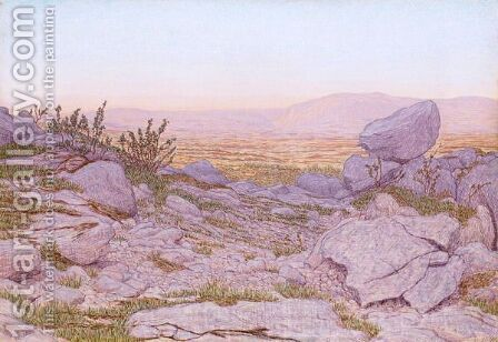 Rocky Landscape, 1899 by Alexandre Perrier - Reproduction Oil Painting