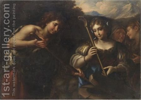 Giacobbe E Rachele by (after) Nicolo Bambini - Reproduction Oil Painting