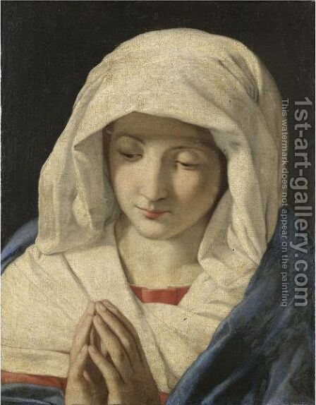 Madonna by (after) Giovanni Battista Salvi, Il Sassoferato - Reproduction Oil Painting