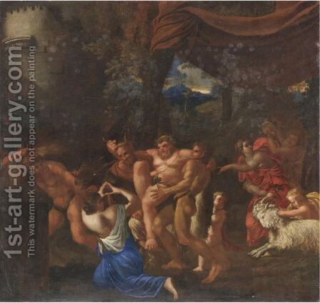 Baccanale by (after) Annibale Carracci - Reproduction Oil Painting