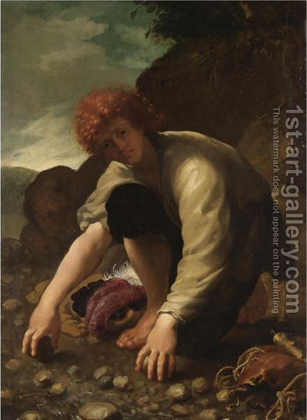 David by Italian School - Reproduction Oil Painting