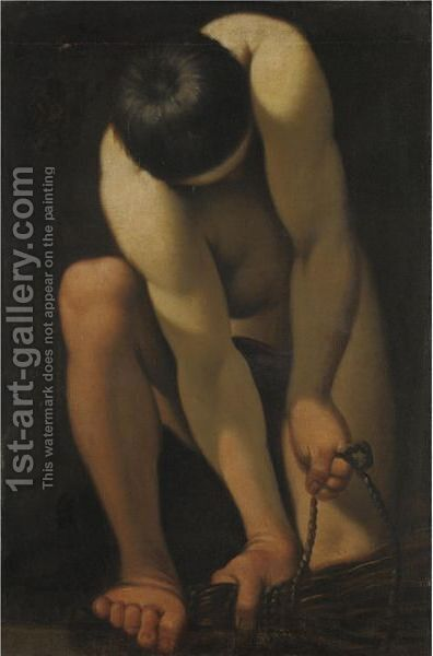 Nudo Maschile by Italian School - Reproduction Oil Painting