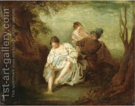 Incontro Galante by (after) Watteau, Jean Antoine - Reproduction Oil Painting