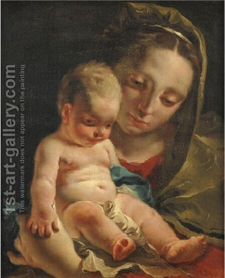 Madonna Col Bambino by Giovanni Battista Tiepolo - Reproduction Oil Painting