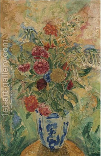 Flowers by Alfred Henry Maurer - Reproduction Oil Painting