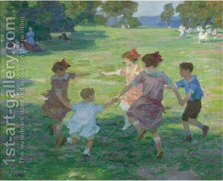 Springtime Of Life by Edward Henry Potthast - Reproduction Oil Painting