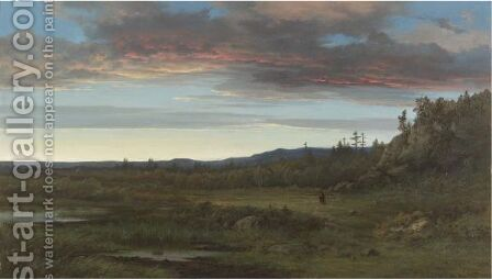 Sunset Landscape by Alexander Wust - Reproduction Oil Painting