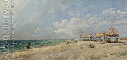 Long Beach by Jasper Francis Cropsey - Reproduction Oil Painting