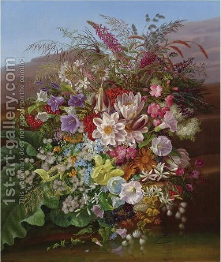 Still Life With Flowers 3 by Adelheid Dietrich - Reproduction Oil Painting