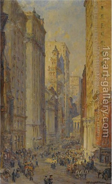 Broad Street, New York by Colin Campbell Cooper - Reproduction Oil Painting