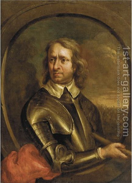 Portrait Of Oliver Cromwell by (after) Robert Walker - Reproduction Oil Painting