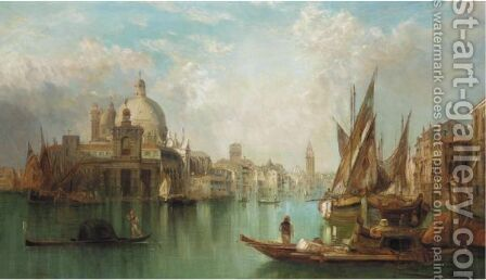 The Grand Canal, Venice 9 by Alfred Pollentine - Reproduction Oil Painting