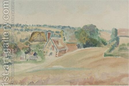 La Cavee Eragny by Camille Pissarro - Reproduction Oil Painting
