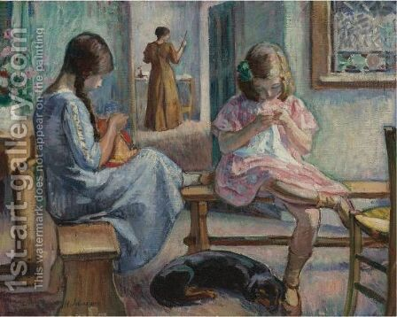 Scene D'Intimite by Henri Lebasque - Reproduction Oil Painting