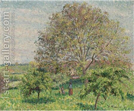 Le Grand Noyer Au Printemps, Eragny by Camille Pissarro - Reproduction Oil Painting