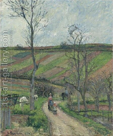 Le Fond-De-L'Hermitage, Pontoise by Camille Pissarro - Reproduction Oil Painting
