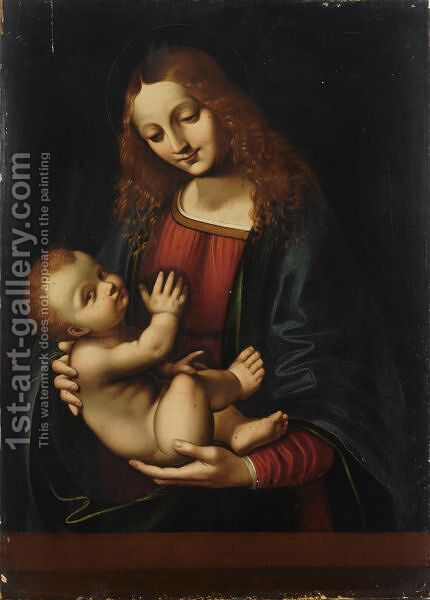 The Madonna And Child by (after) Marco D'Oggiono - Reproduction Oil Painting