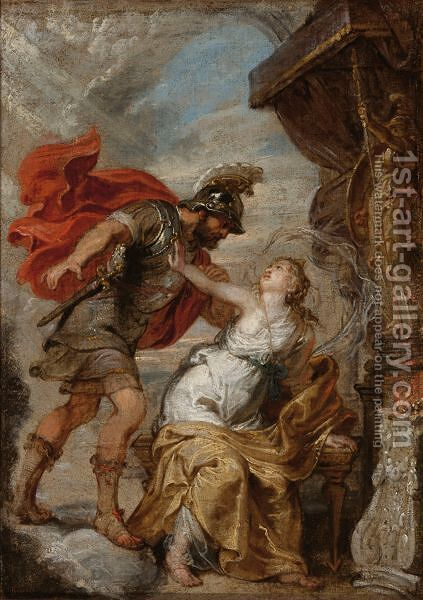 Mars And Rhea Sylvia by (after) Sir Peter Paul Rubens - Reproduction Oil Painting
