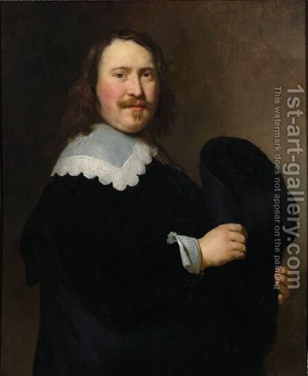 A Portrait Of A Gentleman by Govert Teunisz. Flinck - Reproduction Oil Painting