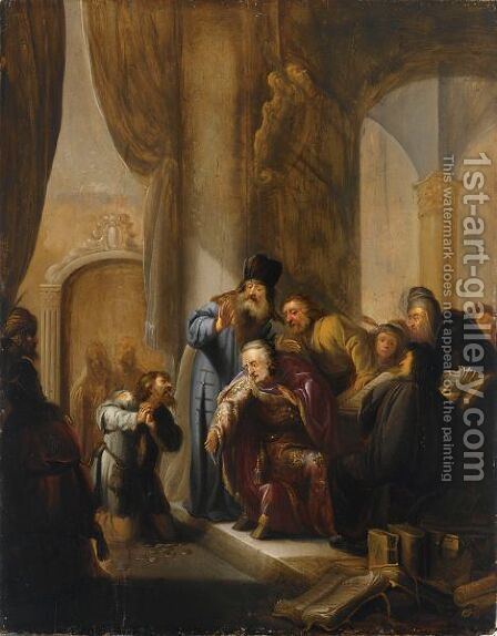 The Remorse Of Judas by Jacob Willemsz de Wet the Elder - Reproduction Oil Painting