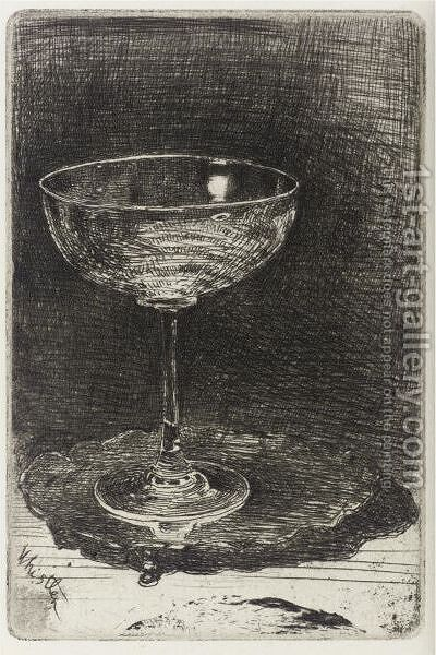 The Wine-Glass by James Abbott McNeill Whistler - Reproduction Oil Painting