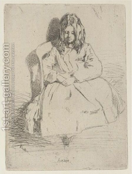 Annie, Seated by James Abbott McNeill Whistler - Reproduction Oil Painting
