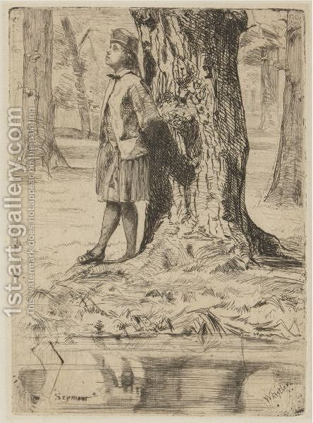 Seymour Standing Under A Tree by James Abbott McNeill Whistler - Reproduction Oil Painting
