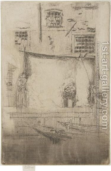 Fruit-Stall by James Abbott McNeill Whistler - Reproduction Oil Painting