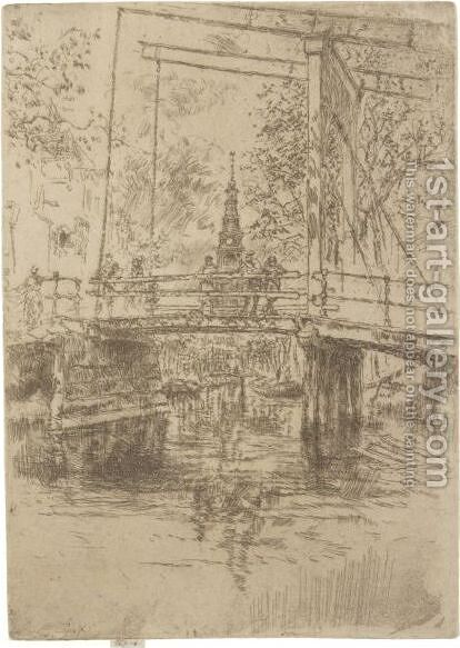 Little Drawbridge, Amsterdam by James Abbott McNeill Whistler - Reproduction Oil Painting