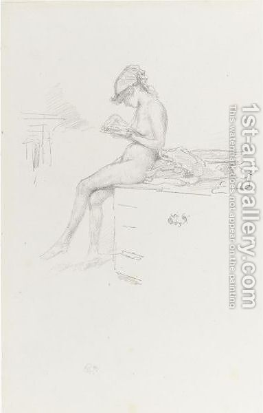 The Little Nude Model, Reading by James Abbott McNeill Whistler - Reproduction Oil Painting