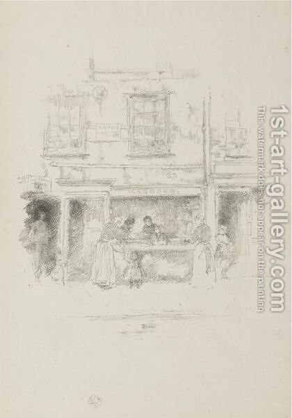 Maunder's Fish Shop, Chelsea by James Abbott McNeill Whistler - Reproduction Oil Painting