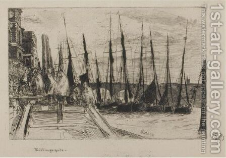 Billingsgate by James Abbott McNeill Whistler - Reproduction Oil Painting