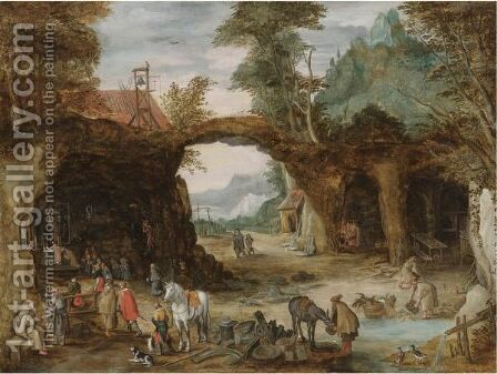 The Hermitage by (after) Joos De Momper - Reproduction Oil Painting