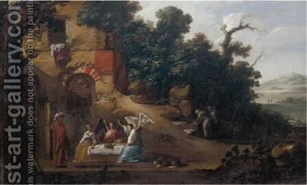 Abraham And The Three Angels by (after) Filippo Napoletano - Reproduction Oil Painting