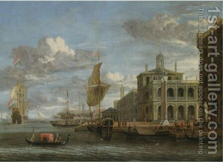 Venice, A Capriccio View From The Bacino With The Piazzetta And Dutch Shipping by Jacobus Storck - Reproduction Oil Painting