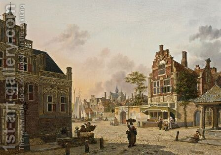 A Summer Day In Haarlem by Jan Hendrik Verheijen - Reproduction Oil Painting