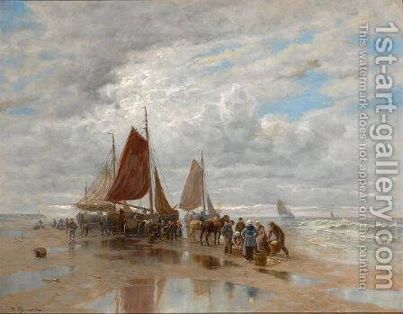 Unloading The Catch by Desire Thomassin - Reproduction Oil Painting