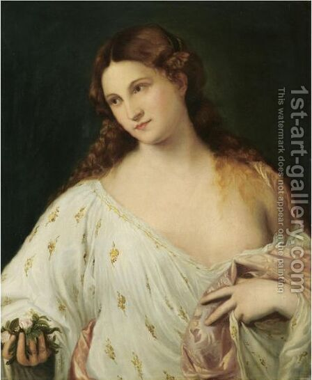 Flora by (after) Tiziano Vecellio (Titian) - Reproduction Oil Painting