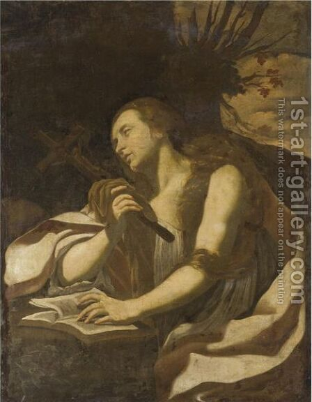 The Penitent Magdalene 2 by (after) Simon Vouet - Reproduction Oil Painting
